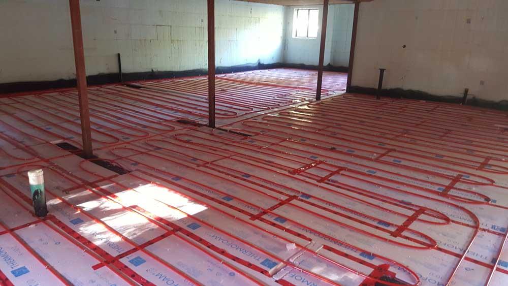 In Floor Tubing